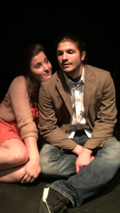 "Cassie Gilling and LeBron Lackey in ""Cat, Woman"" at the Secret Theatre"